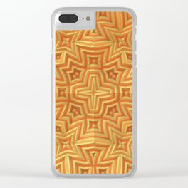 Fall Basket Pattern Clear iPhone Case