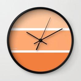 Calypso Orange Wall Clock