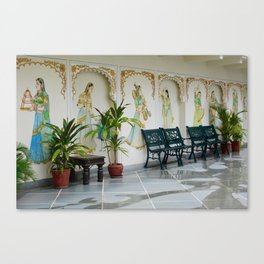 Drawings & Benches Canvas Print