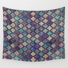 Moroccan Tile Design In Retro Colors Wall Tapestry