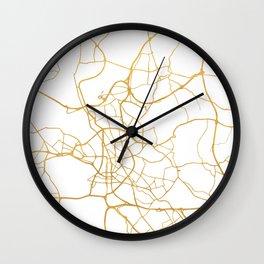 DÜSSELDORF GERMANY CITY STREET MAP ART Wall Clock
