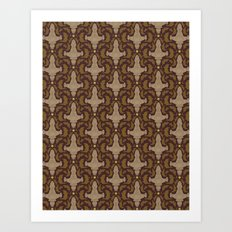 Leaf on the Wind Damask Art Print