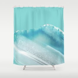 Geode Crystal Turquoise Blue Shower Curtain