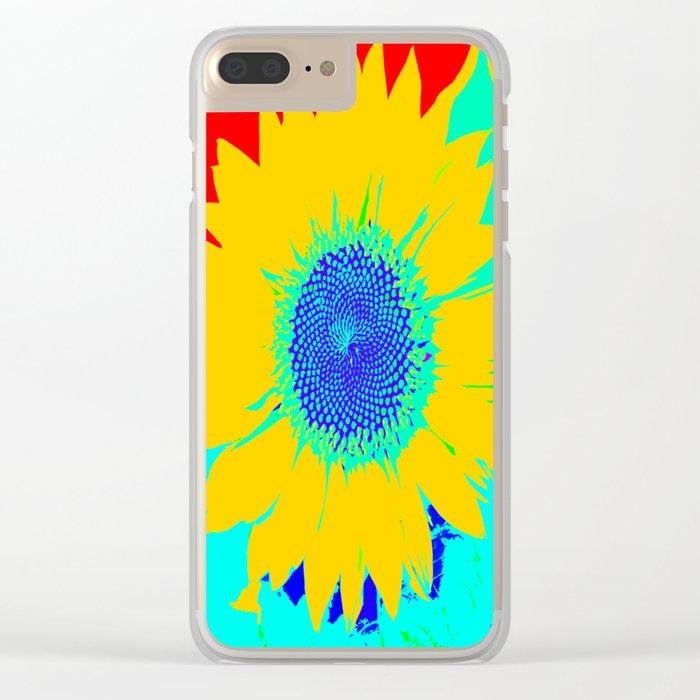 Fun Sunflower #decor #society6 Clear iPhone Case