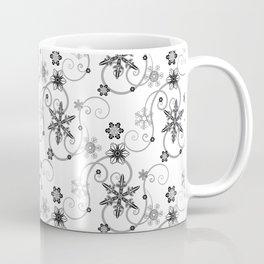 Snowflakes (Black) Coffee Mug
