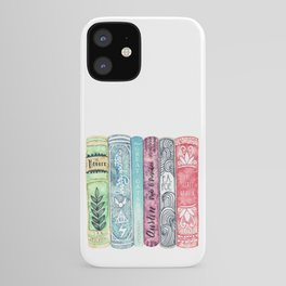 Book Lover Watercolor Books iPhone Case