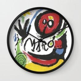 Joan Miró Tres Livres 1957 Artwork for Prints Posters Tshirts Bags Women Men Wall Clock