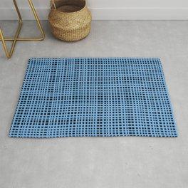 Blue knitting Rug