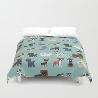 german Duvet Covers featuring GERMAN DOGS by Doggie Drawings