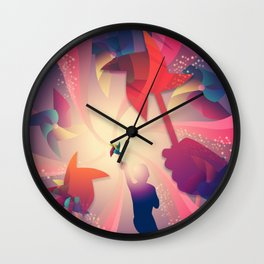 Let's Play Pinwheels Wall Clock