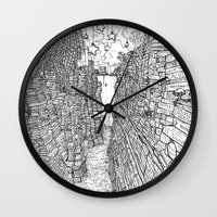 library Wall Clocks featuring the Library by KadetKat
