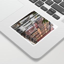 Picturesque street view in Greenwich Village, New York Sticker