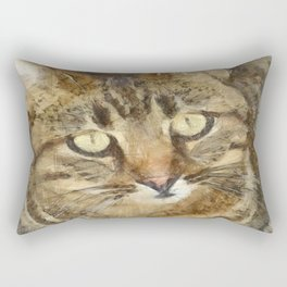 Cute Tabby Looking Up Rectangular Pillow