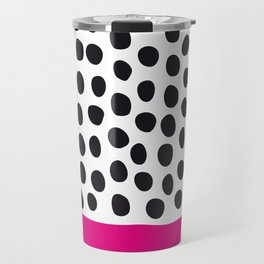 Modern Handpainted Polka Dots with Pink Travel Mug