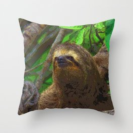 Sloth_20171102_by_JAMColorSpecial Throw Pillow