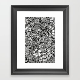 Peony Fascination Framed Art Print