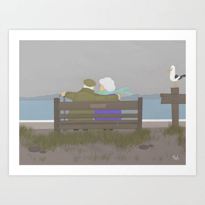 Best Friend for Life, Beach Wall Art, Beach Art Nursery Decor, Nursery Wall Art for Boys Room Art Print