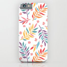 Cute summer floral pattern iPhone Case
