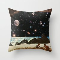 always sunny Throw Pillows featuring it's always sunny in space by Blaž Rojs