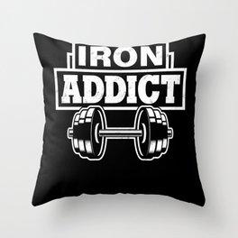 Bodybuilding Weights Throw Pillow