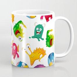 Colorful Cute Monsters Fun Cartoon Coffee Mug