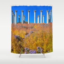 Capitol Arboretum Columns Shower Curtain
