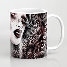 Baroque Head_Red Coffee Mug