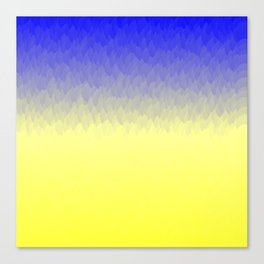Sky and Sun -- Blue yellow ombre flames Canvas Print