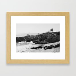 Leo Carrillo State Beach | Malibu California | Black and White Photography | Malibu Photography Framed Art Print