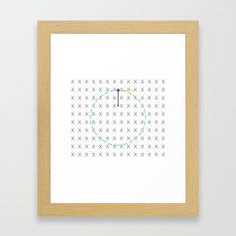 Centripetal Electromagnetic Force Framed Art Print