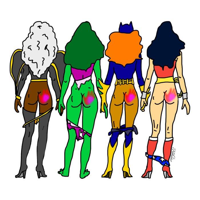 Superhero Butts Love 2 - Team Girls Comforters