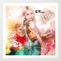2ne1 Art Prints featuring Ciel of 2ne1 queen of china by LC_Korim