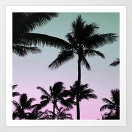 Silhouette Palms Art Print