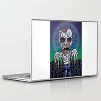 kevin russ Laptop & iPad Skins featuring Full Moon Kevin by Visible Riddles