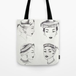 Four Ladies Four Vintage Hats Tote Bag
