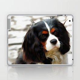 Portrait Of A King Charles Cavalier Spaniel Laptop & iPad Skin