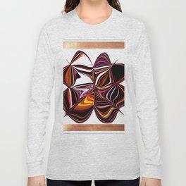 Digitally Created Colorful Clover Long Sleeve T-shirt