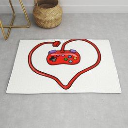 joystick heart Rug