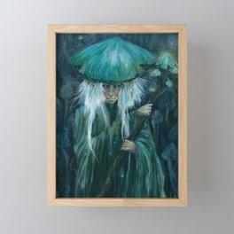 Mushroom Elves Framed Mini Art Print