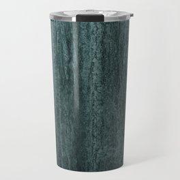 Black gray green abstract modern marble Travel Mug