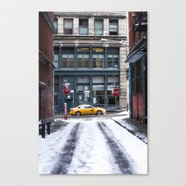 side streets in the snow Canvas Print