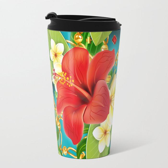 tropical color party  Travel Mug