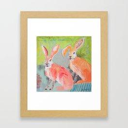Just Some Rabbits Framed Art Print