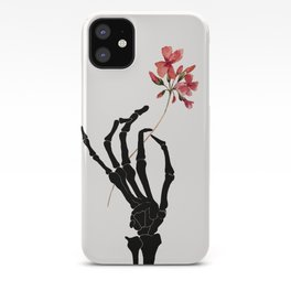 Skeleton Hand with Flower iPhone Case