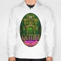 astrology Hoodies featuring Gemini Zodiac Sign Astrology by CAP Artwork & Design
