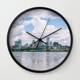 1513 - Philadelphia Cityscape from New Jersey Wall Clock