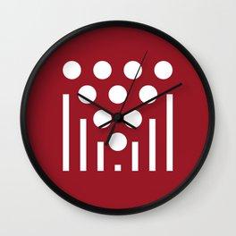 Geometric Calendar (Oktober) Wall Clock
