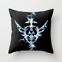 triforce Throw Pillows featuring Water Triforce by bivisual
