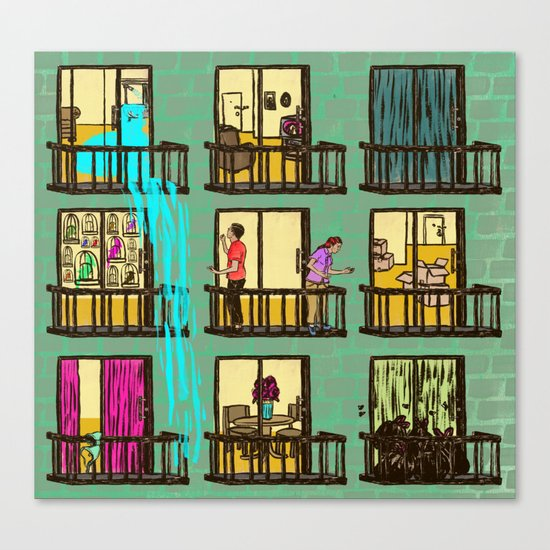 Terrible Neighbors Canvas Print