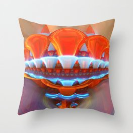 Raving Trumpets Throw Pillow
